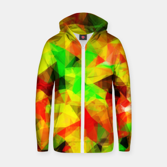 Thumbnail image of geometric triangle pattern abstract background in yellow green red Zip up hoodie, Live Heroes