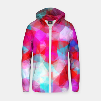 Thumbnail image of geometric triangle pattern abstract background in pink red blue Zip up hoodie, Live Heroes