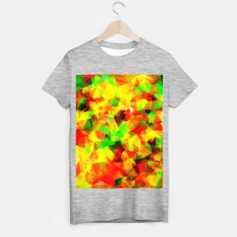 Thumbnail image of geometric triangle pattern abstract background in yellow green red T-shirt regular, Live Heroes