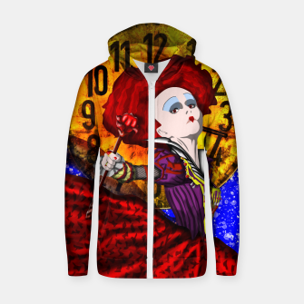 Thumbnail image of QUEEN OF HEARTS two Sudadera con capucha y cremallera , Live Heroes