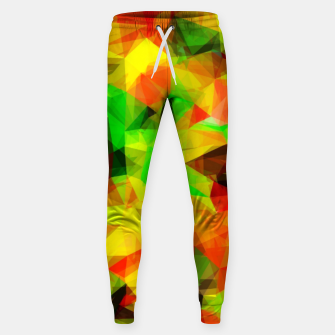 Thumbnail image of geometric triangle pattern abstract background in yellow green red Sweatpants, Live Heroes