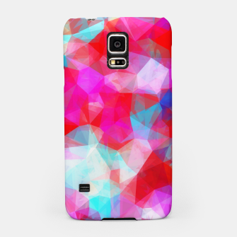 Thumbnail image of geometric triangle pattern abstract background in pink red blue Samsung Case, Live Heroes