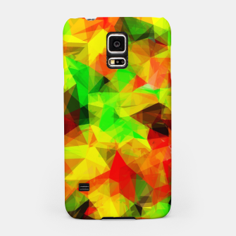 Thumbnail image of geometric triangle pattern abstract background in yellow green red Samsung Case, Live Heroes