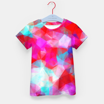 Thumbnail image of geometric triangle pattern abstract background in pink red blue Kid's t-shirt, Live Heroes