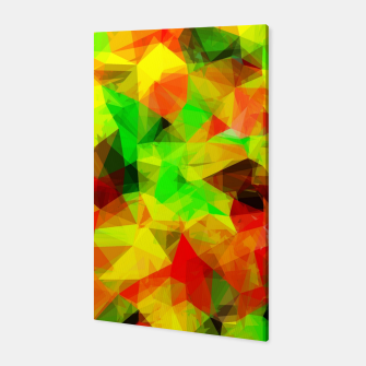 Thumbnail image of geometric triangle pattern abstract background in yellow green red Canvas, Live Heroes