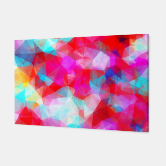 Thumbnail image of geometric triangle pattern abstract background in pink red blue Canvas, Live Heroes