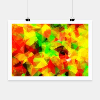 Thumbnail image of geometric triangle pattern abstract background in yellow green red Poster, Live Heroes