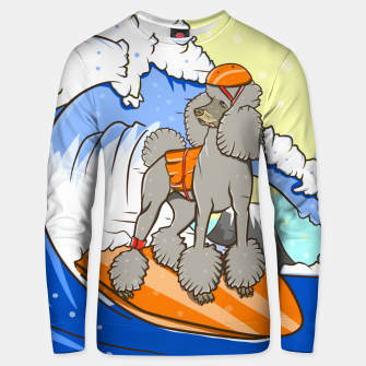 Dog on a surfboard Unisex sweater thumbnail image