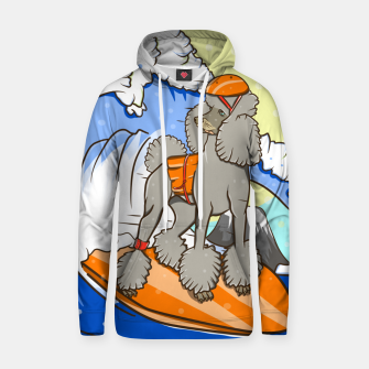Dog on a surfboard Hoodie thumbnail image