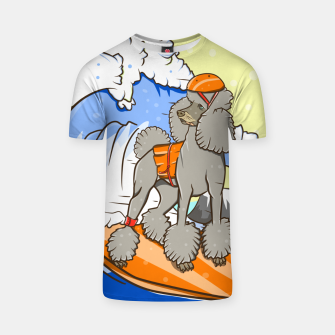 Thumbnail image of Dog on a surfboard T-shirt, Live Heroes