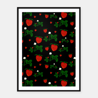 Thumbnail image of Wild Strawberries Pattern Framed poster, Live Heroes