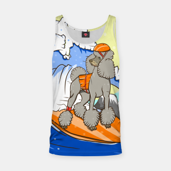 Dog on a surfboard Tank Top thumbnail image