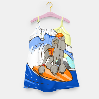 Miniature de image de Dog on a surfboard Girl's dress, Live Heroes