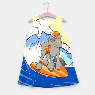Miniature de image de Dog on a surfboard Girl's summer dress, Live Heroes