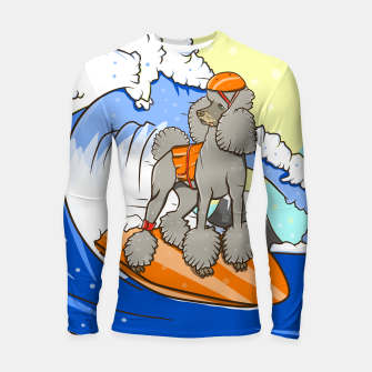 Thumbnail image of Dog on a surfboard Longsleeve rashguard , Live Heroes