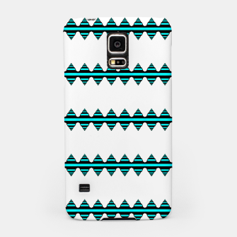 Thumbnail image of Turquoise geo stripes Carcasa por Samsung, Live Heroes