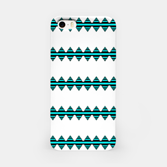 Thumbnail image of Turquoise geo stripes Carcasa por Iphone, Live Heroes