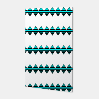 Thumbnail image of Turquoise geo stripes Canvas, Live Heroes