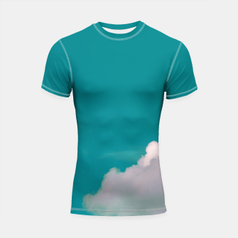 Thumbnail image of Cloud Shortsleeve rashguard, Live Heroes