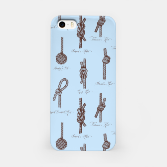 Thumbnail image of Nautical Knots Pattern (Light Blue and Brown) iPhone Case, Live Heroes
