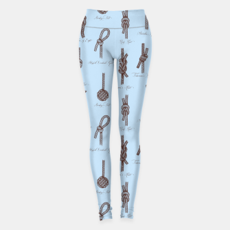 Thumbnail image of Nautical Knots Pattern (Light Blue and Brown) Leggings, Live Heroes