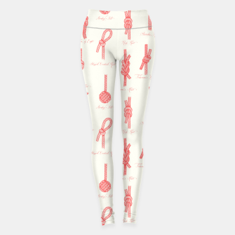 Thumbnail image of Nautical Knots Pattern (Beige and Coral) Leggings, Live Heroes