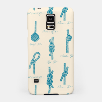 Miniaturka Nautical Knots Pattern (Beige and Teal) Samsung Case, Live Heroes