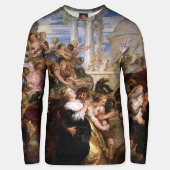 The Rape of the Sabine Women by Peter Paul Rubens Unisex sweater obraz miniatury