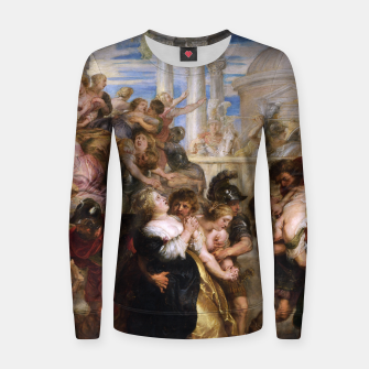 The Rape of the Sabine Women by Peter Paul Rubens Women sweater obraz miniatury