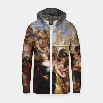 Miniature de image de The Rape of the Sabine Women by Peter Paul Rubens Zip up hoodie, Live Heroes