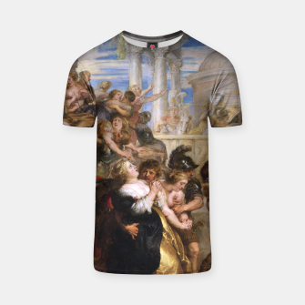 The Rape of the Sabine Women by Peter Paul Rubens T-shirt obraz miniatury