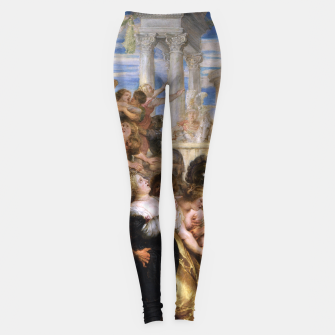 Thumbnail image of The Rape of the Sabine Women by Peter Paul Rubens Leggings, Live Heroes