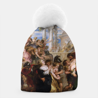 Thumbnail image of The Rape of the Sabine Women by Peter Paul Rubens Beanie, Live Heroes