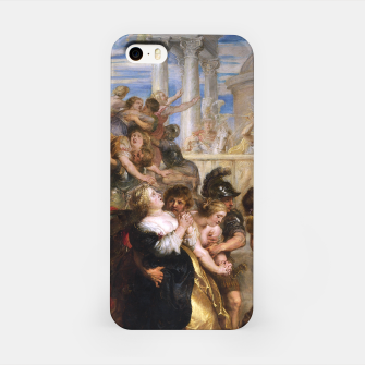 The Rape of the Sabine Women by Peter Paul Rubens iPhone Case obraz miniatury