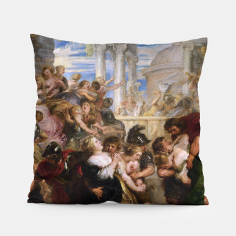 Miniaturka The Rape of the Sabine Women by Peter Paul Rubens Pillow, Live Heroes
