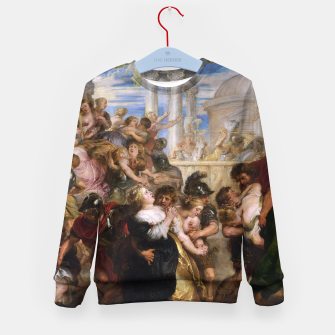 The Rape of the Sabine Women by Peter Paul Rubens Kid's sweater obraz miniatury