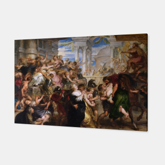 The Rape of the Sabine Women by Peter Paul Rubens Canvas obraz miniatury