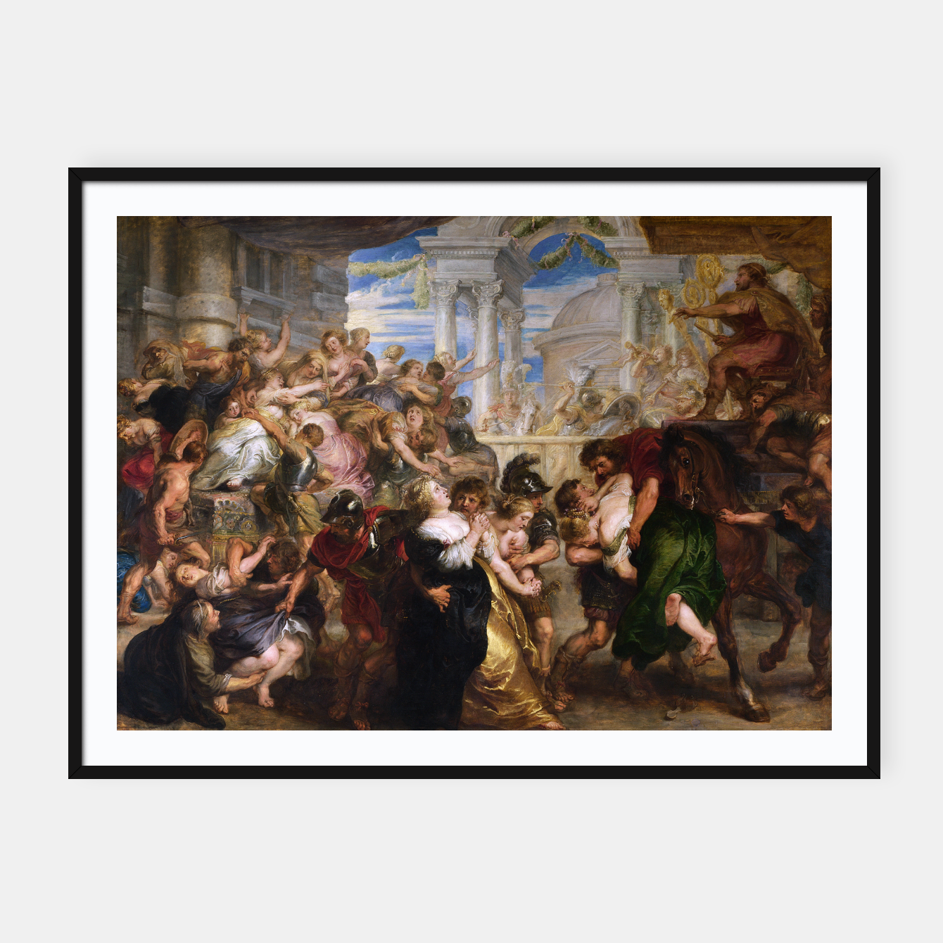 Zdjęcie The Rape of the Sabine Women by Peter Paul Rubens Framed poster - Live Heroes