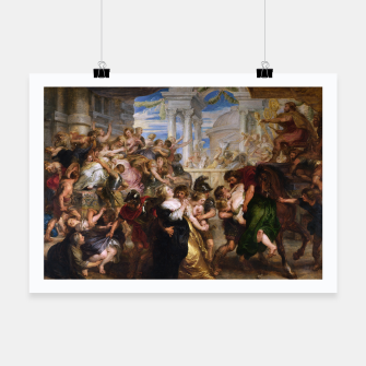 The Rape of the Sabine Women by Peter Paul Rubens Poster obraz miniatury