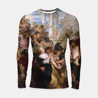 The Rape of the Sabine Women by Peter Paul Rubens Longsleeve rashguard  obraz miniatury