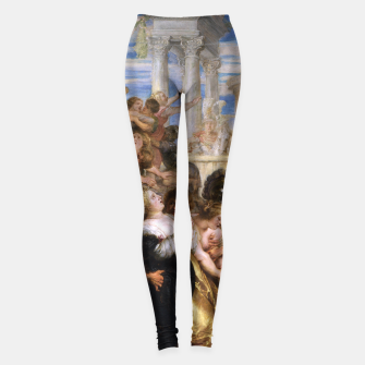 Miniaturka The Rape of the Sabine Women by Peter Paul Rubens Leggings, Live Heroes