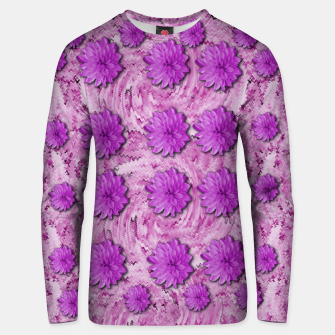 Miniatur flowers and decorative floral petals Unisex sweater, Live Heroes