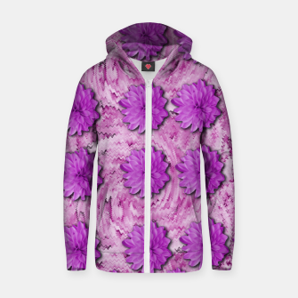 Miniatur flowers and decorative floral petals Zip up hoodie, Live Heroes