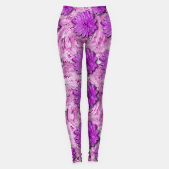 Miniatur flowers and decorative floral petals Leggings, Live Heroes