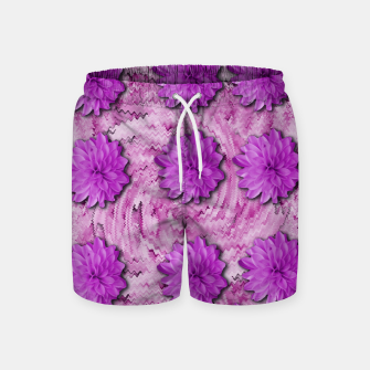 Miniatur flowers and decorative floral petals Swim Shorts, Live Heroes