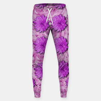 Miniatur flowers and decorative floral petals Sweatpants, Live Heroes