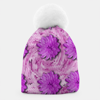 Miniatur flowers and decorative floral petals Beanie, Live Heroes
