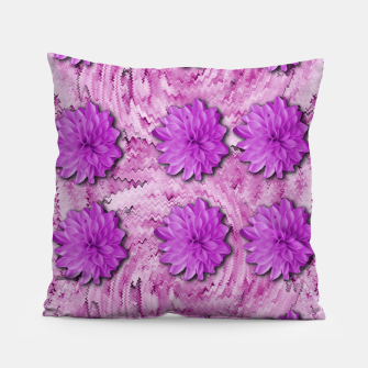 Miniatur flowers and decorative floral petals Pillow, Live Heroes