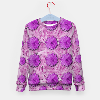 Miniatur flowers and decorative floral petals Kid's sweater, Live Heroes