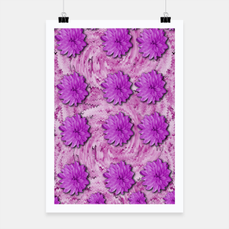 Miniatur flowers and decorative floral petals Poster, Live Heroes